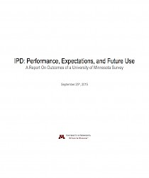 IPD: Performance, Expectations, and Future Use